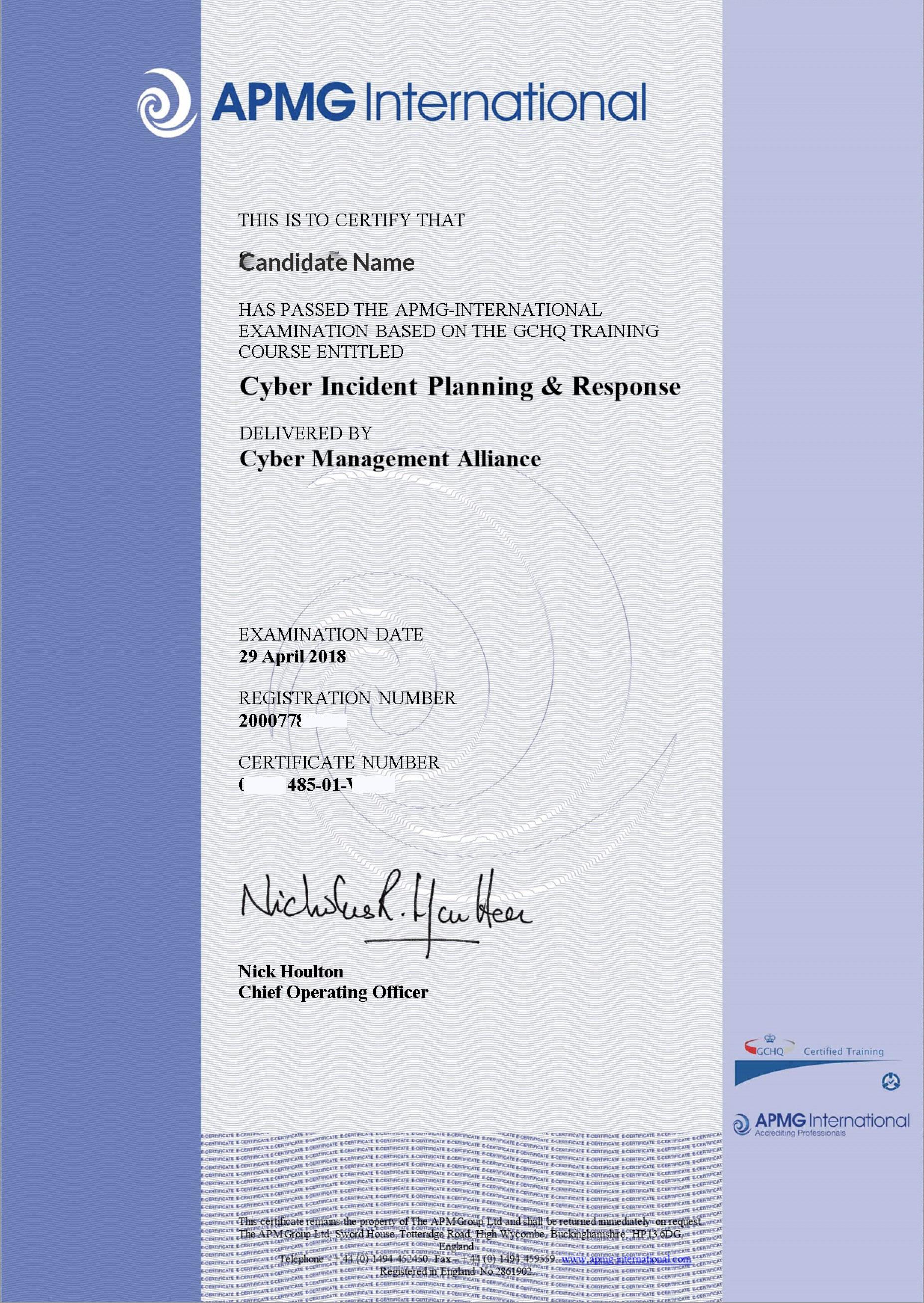 APMG Sample Exam Certificate-19