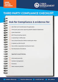 Information Security Manager Compliance Checklist