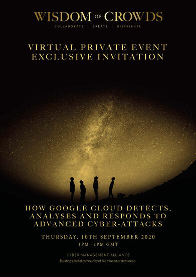 Google Wisdom of Crowds Exclusive Invitation 10th September 2020