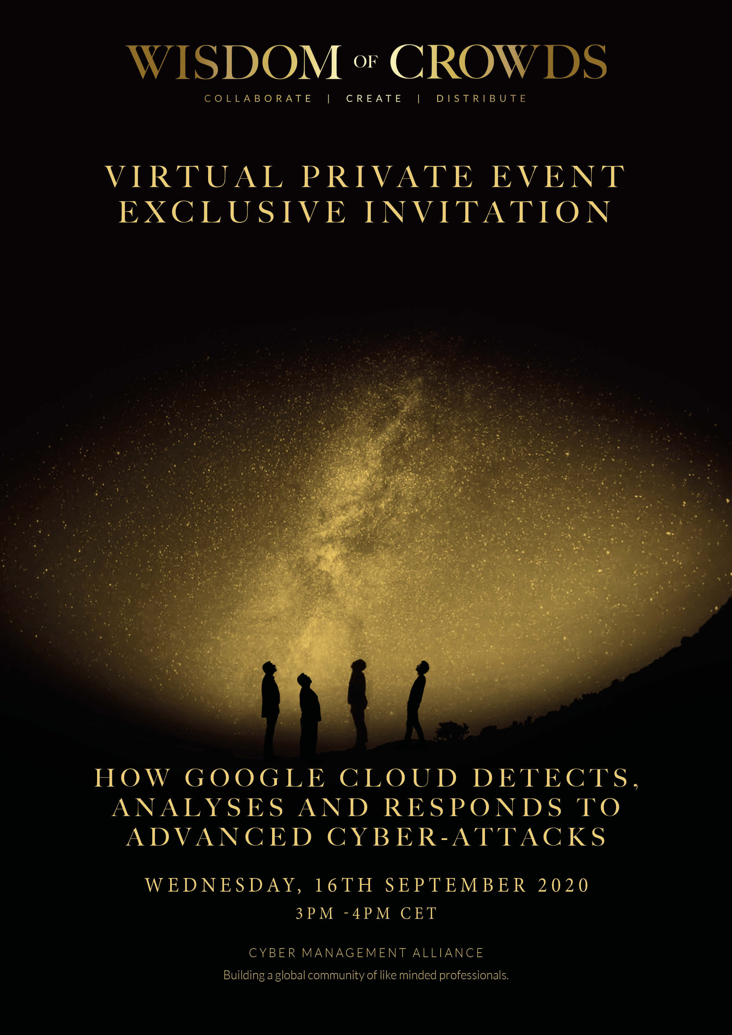 Google Wisdom of Crowds Exclusive Invitation 16th September 2020 Benelux