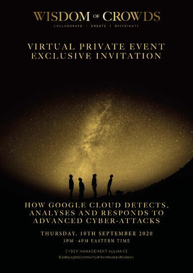Google Wisdom of Crowds Exclusive Invitation 16th September 2020 USA East