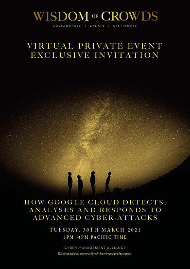 Google Wisdom of Crowds Exclusive Invitation 30th March 2021 USA Pacific