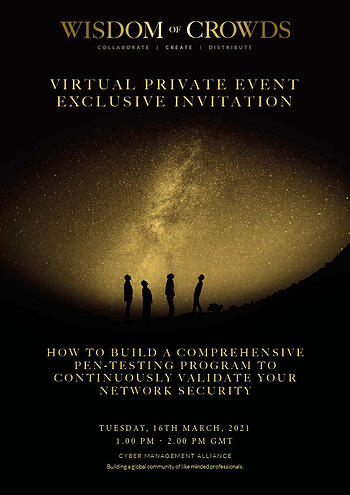 Pcysys Private Exclusive Invitation - 16th March 2021 UK