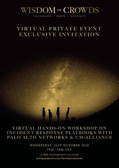 WoC Demisto Private Workshop Event - Spain 21st October 3 pm - 5pm CET
