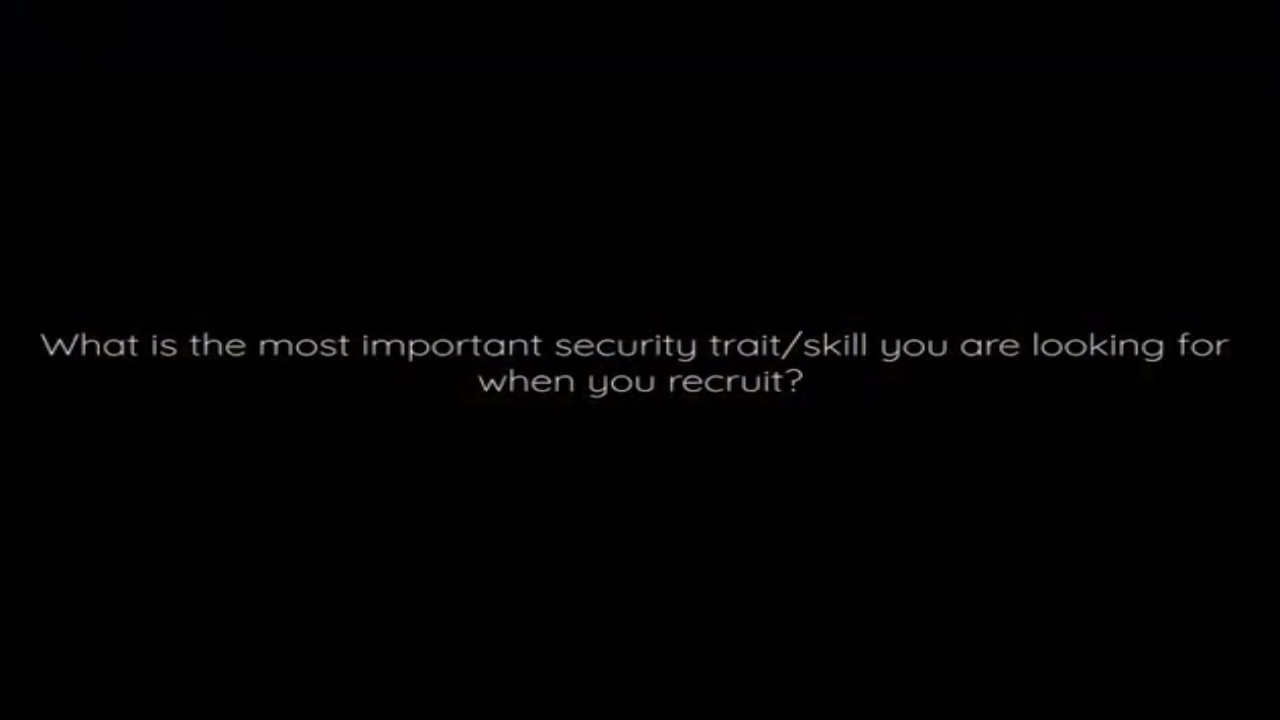 What is the most important trait or skill you look for when hiring?