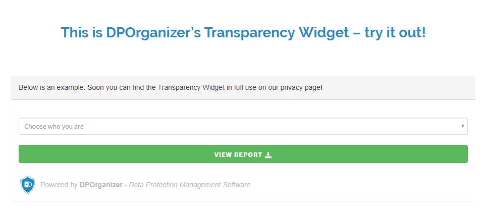 DPOrganizer Transparency Widget