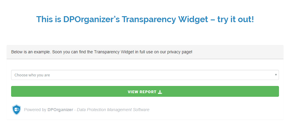 DPOrganizer Transparency Widget