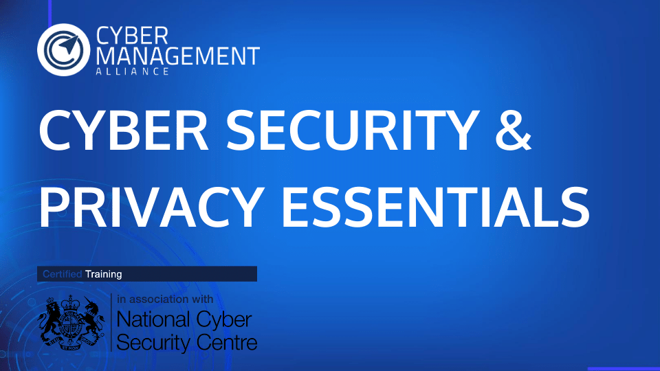NCSC-Certifed Cyber Security & Privacy Essentials