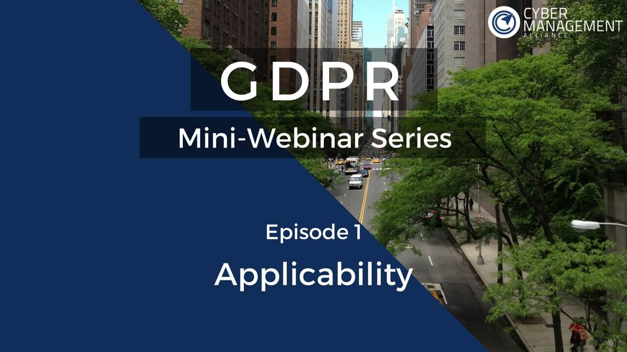 Free GDPR Training Lesson 1: Applicability