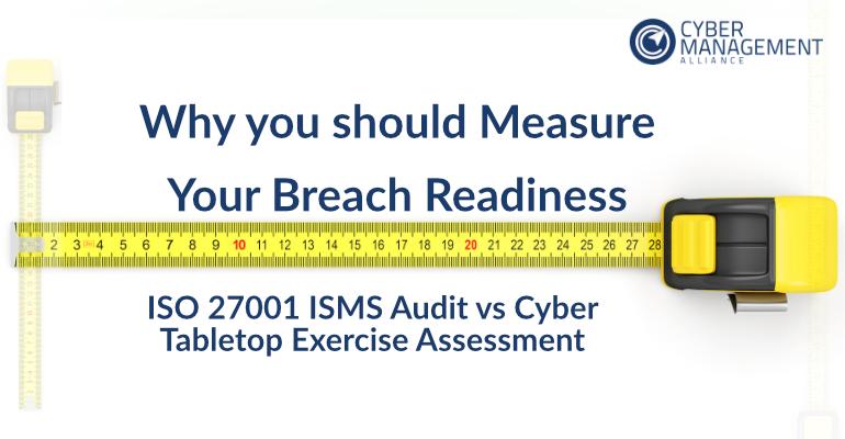 ISO 27001 ISMS Audit vs Cyber Tabletop Exercise Assessment