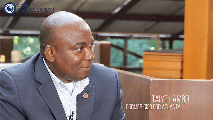 Cyber Management Alliance discusses cyber security with Taiye Lambo, former CISO for Atlanta