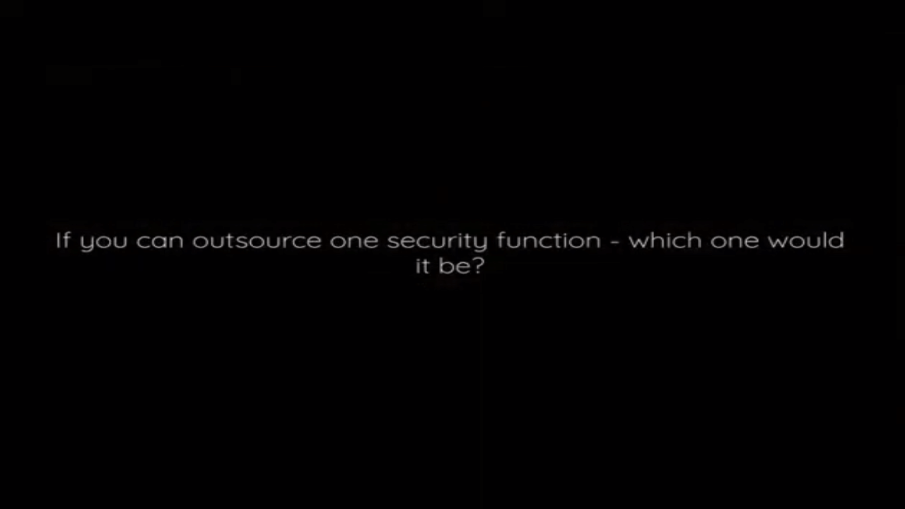 Which security function would you outsource?