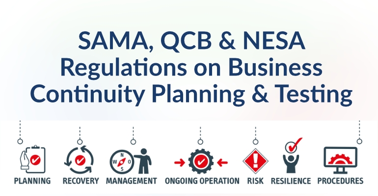 SAMA, QCB & NESA Regulations on Business Continuity Planning & Testing