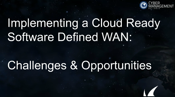 Implementing a Cloud Ready Software Defined WAN