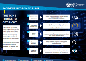 Top 5 Things to Do When Creating Your Incident Response Plan